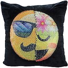 "Emoji Sequin Pillow Case,Dukars Sofa Home Decor Throw Pillow Case Cushion Cover Decorative Reversible Sequin Pillow 16""16"""