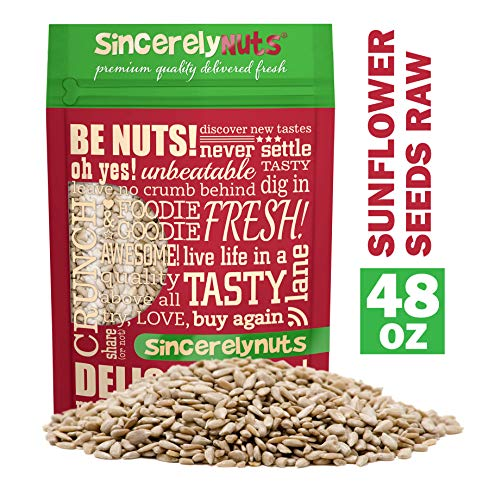 Sincerely Nuts Sunflower Seed Kernels Raw (No Shell) (3lb bag) | Delicious Antioxidant Rich Snack | Source of Protein, Fiber, Essential Vitamins & Minerals | Vegan and Gluten Free
