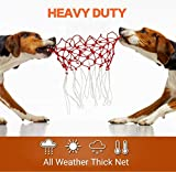 BeiDood Heavy Duty Basketball Net Replacement, All Weather Anti Whip, Fits Standard Outdoor or Indoor 12-Loop Rims