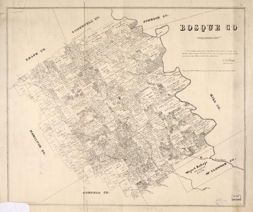Map of Bosque Co. Bosque County|Texas|Bosque County|Texas|Bosque County|Bosque County (Tex.)|Landowners|Real Property|Texas
