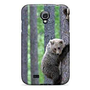Tpu Case Cover Compatible For Galaxy S4/ Hot Case/ Bear Cubs Climbing Tree
