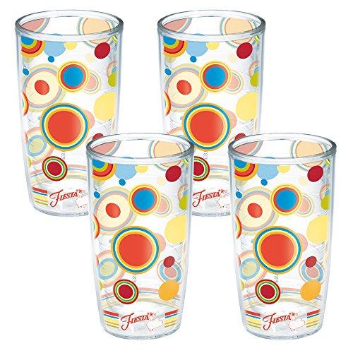 Tervis Fiesta Poppy Dots Tumbler, 16-Ounce, 4-Pack