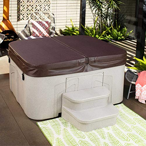 LifeSmart Spas Simplicity 4-Person Plug & Play Hot Tub Spa with Cover & Steps