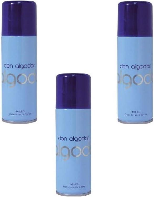 DON ALGODON Mujer Deo Spray 200ML. Pack de 3: Amazon.es: Belleza