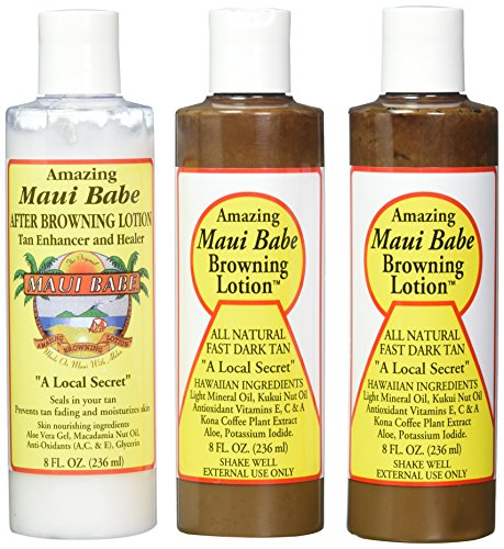 (Maui Babe Tanning Pack (2 Browning Lotions 8 oz, 1 After Browning Lotion 8 oz) )