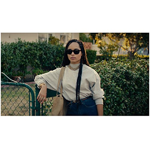 Dope 8x10 Inch Photo Zoe Kravitz Sunglasses Right Arm Leaning on Fence - Sunglasses Zoe