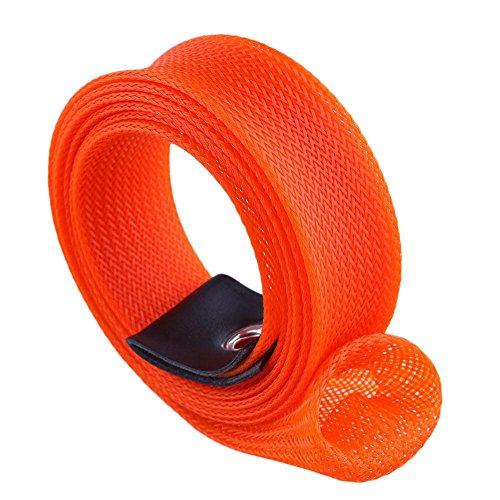 nbsp;m Covers Pesca Orange green 1 Schermo 7 Black Manicotto Espandibile Guanti Bundle Da Intrecciato Spinning Casting Calzino Nero Rod Canna Isafish Verde 1qt6R7wpIp