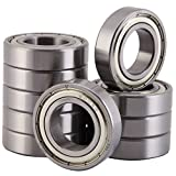 XiKe 10 Pack 6005ZZ Bearings 25x47x12mm, Stable Performance, Cost-Effective, Double Shield and Pre-Lubricated, Deep Groove Ball Bearings.