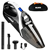 WELIKERA Cordless Handheld Vacuum with Stainless Steel Filter, Rechargeable 12V 100W Lithium Hand Vacuum (Black)