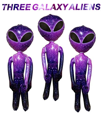 Awesome Halloween Parties (Giant Inflatable Alien Galaxy Design for Alien Party Decorations, Prop, and Halloween - Awesome Purple Alien Inflatable 36 Inch)