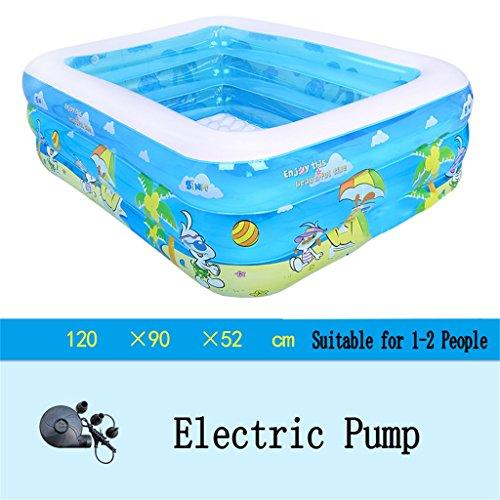 LQQGXL,Bath Inflatable bathtub / swimming pool pool child / baby / home football / electric pool sea pool for 1-2 people (120 90 52 cm) Inflatable bathtub ( Color : Electric Pump ) by LQQGXL
