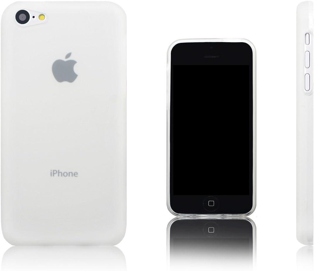 Xcessor Vapour Flexible TPU Gel Case for Apple iPhone 5C. Black (Transparent)