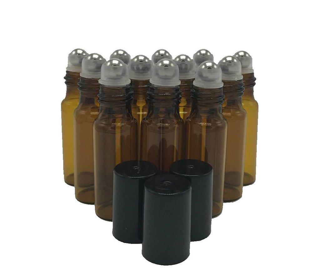 注目のブランド hugestore 12個5 Aromatherapy ml詰め替え可能ガラスローラーボールボトル空Essential Oilガラスローラーボトルfor Aromatherapy with hugestore 3 mlスポイト ブラウン ブラウン 728350610792 ブラウン B071JTZ59C, イズモザキマチ:6a6b3a71 --- egreensolutions.ca