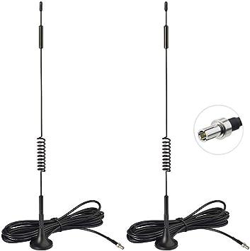 Bingfu 4G LTE Antena TS9 Base Magnética 7dBi(2-Paquete) para Verizon Jetpack 8800L 7730L AC791L AT&T Netgear LB1120 LB1121 Nighthawk M1 MR1100 770 ...