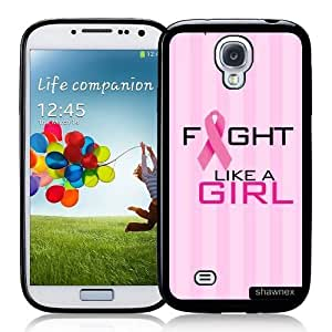 Cool Painting Galaxy S4 Case - S IV Case - Shawnex Fight Like A Girl Pink Cancer Awareness Samsung Galaxy i9500 Case Snap On Case
