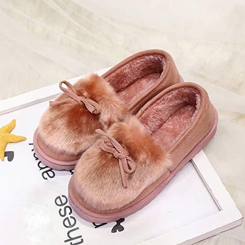 Velvet Snow Slip Bottom Boots New Pink Snow Bow Boots Women Plus Flat Shoes Longra Low Cut Sw7aqnFB
