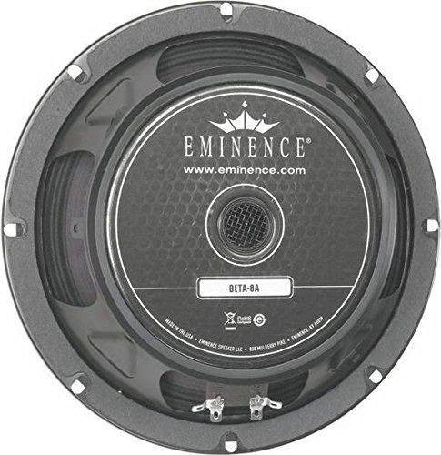 Eminence American Standard Beta-8A 8' Pro Audio Speaker, 225 Watts at 8 Ohms