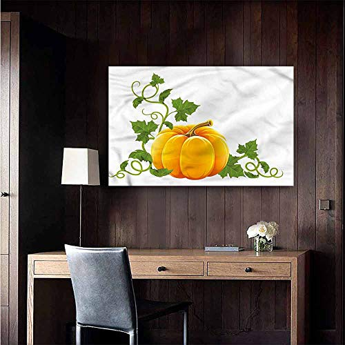 (Gabriesl Stickers Wall Murals Decals Removable Pumpkin Ripe Fruit Autumn Harvest Lady Room Wall Size : W28 x H20)