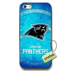 NFL Carolina Panthers Team Logo iPhone 5c Black PC(Hard) Soft Case Cover - Black