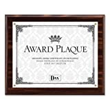 Wholesale CASE of 10 - Burns Grp. Solid Wood Award Plaques-Award Plaque, Vertical/Horizontal, 8-1/2''x11'', Walnut/Gold