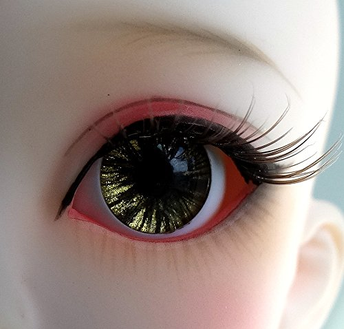 22mm Hand Made BJD Doll Eyes Brown Acrylic Half Ball
