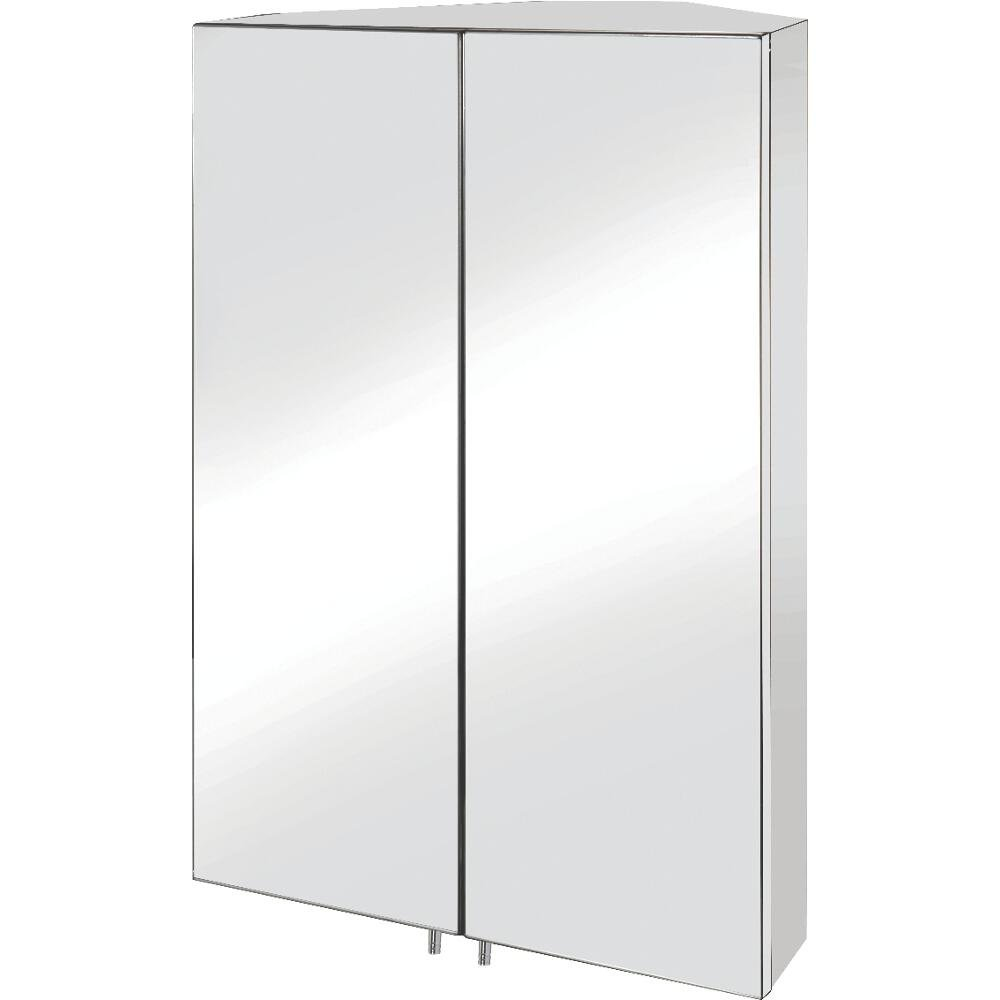 Croydex Avisio Double Door Stainless Steel Corner Cabinet: Amazon ...