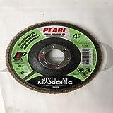 15-Pk Pearl Mx4580Zt Silver Line Zirc Flap Disc Ty 27 4-1/2 Inch X 7/8 Inch 80