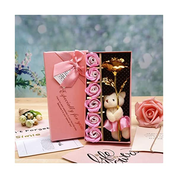Basde-Gold-Plated-Long-Stem-Rose-Flower-with-Premium-Crystals-Gold-Plated-with-Premium-Crystals-Great-Gifts-for-Anniversary-Birthday-Christmas-Valentines-Day-Mothers-Day-Wedding-Pink