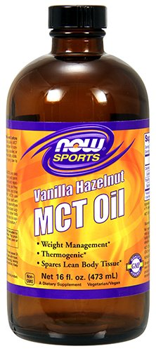 NOW Foods Sports MCT Oil, Vanilla Hazelnut, 16 Fluid Ounce