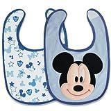 Disney Mickey 2 Pack Terry Bibs