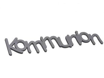 Amazon.de: Kommunion Schriftzug Tischdeko silber Acryl Schrift ...