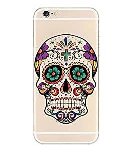 iPhone 6 Plus Case, DECO FAIRY? Protective Case Bumper[Scratch-Resistant] [Perfect Fit] Translucent Silicone Clear Case Gel Cover for Apple iPhone 6 Plus (Colorful Sugar Skull)