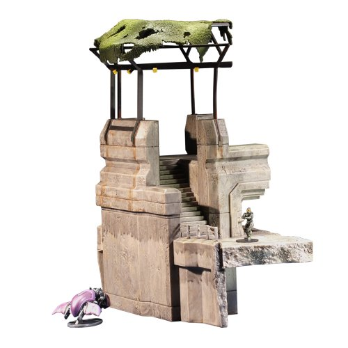 Halo McFarlane Micro Ops Series 1 Box Set High Ground Tower [Includes Master Chief, Ghost & Elite Special (Halo Netting)