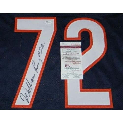 a6ca9f106fb ... William Refrigerator Perry Signed Autographed Chicago Bears 72 Navy  Jersey - JSA Certified - Autographed ...