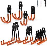 Intpro 12pack Steel Garage Storage Utility Double Hooks Organizer Heavy Duty Wall Mount Tool Holder for Organi