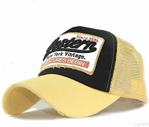 2d675cd7a19 xuzirui New York Vintage Baseball Caps Printed Letter Snapback Mesh Back  Hip Hop Patchwork Dad Hat