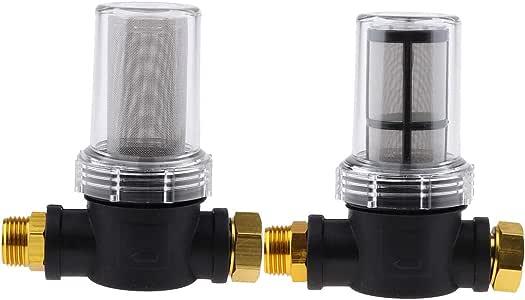 2 Unidades Filtro de Agua Externo Rosca 3/4 para Hidrolimpiadora, Bomba de Jardín, Riego de Jardines: Amazon.es: Jardín
