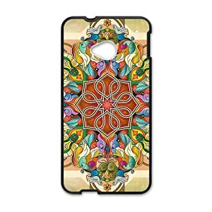 Canting_Good Colorful Mandala Custom Case Shell Skin for HTC One M7(Laser Technology)