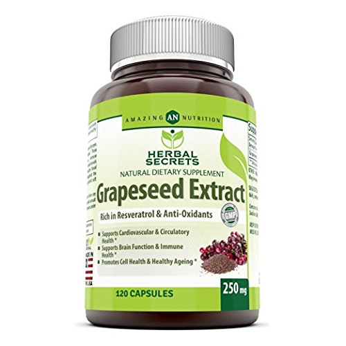 Herbal Secrets Grapeseed Extract 250 Mg 120 Capsules