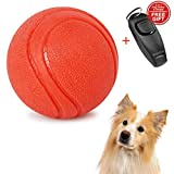 BeyoZoo Tough Strong Dog Chewing Ball for Aggressive Chewers Dogs, 100% Non-Toxic Durable Chew Toy, Natural Rubber Baseball-Sized Bouncy Dog Ball.
