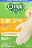 Curad CUR4134W Basic Care Vinyl Exam Gloves, Small/Medium, 100 Count (Pack of 10)