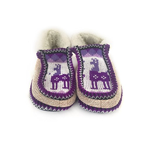 Handmade Inside Real Violet Salta Wool Moccasin Slippers from Argentina Argentino The fYxPAEW