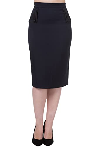 Falda de tubo de Banned modelo Tori (Azul marino)