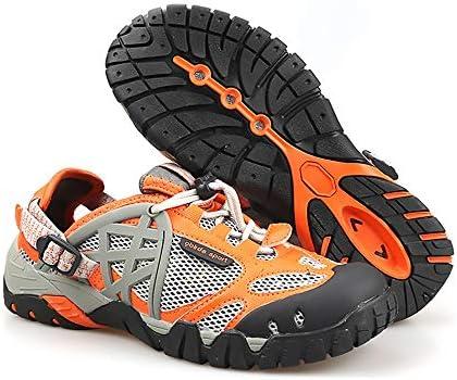 干渉水サーフィン靴下砂防水陸両用アンチサンゴフィットネスランニングシューズ、アウトドア水泳川上流スキニングビーチダイビングスピードユニセックス ポータブル (色 : Orange, Size : US7.5)