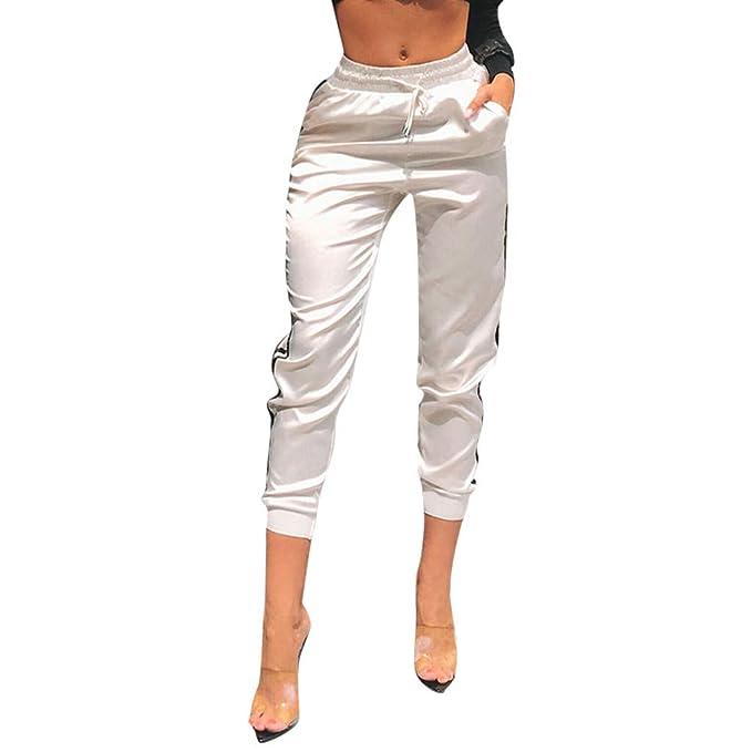 932899401d Pantaloni Sportivi a Righe da Donna Pantaloni Sportivi da Donna ...