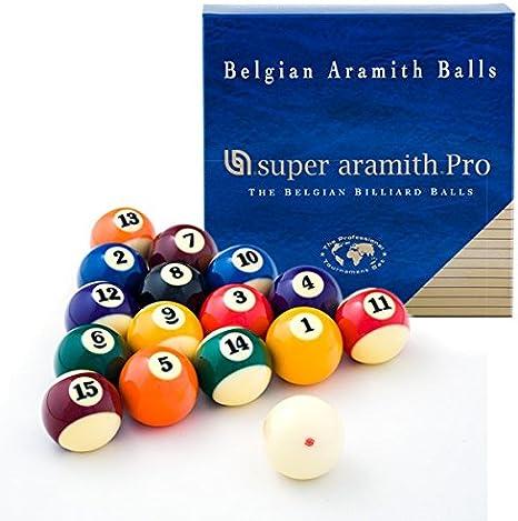 Aramith Super Pro - Juego de bolas de billar (2 1/4): Amazon.es: Deportes y aire libre