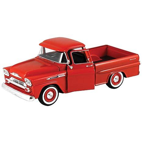 Amazon 1958 Chevy Apache Fleetside Pickup Truck Red Motor