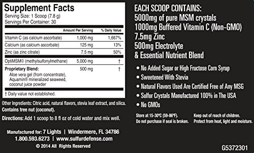 Sulfur Defense Plus (Organic Sulfur & Vitamin C) (12 Pack Special)