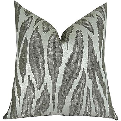 Plutus Brands Plutus Glacier Handmade Throw Pillow 22 X 22 Gray Silver Ivory
