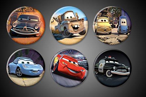 - Cars Movie Magnets Lightening McQueen Tow Mater Doc Hudson Miss Sally Sheriff Luigi Guido Set of 6 1